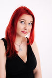 Young plump red-haired woman Stock Photography