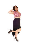 Young plus size woman standing. Royalty Free Stock Photo