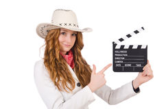 Young   pointing  cowgirl Stock Images