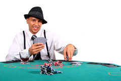Young Poker Player On Table Stock Photos