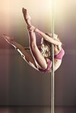 Young pole dance woman Stock Photography