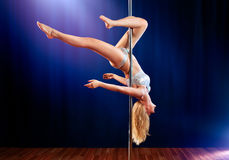 Young pole dance woman Stock Image
