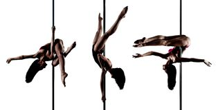 Young pole dance woman Royalty Free Stock Photo