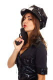 Young police woman Stock Image