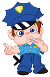 Young policeman vector illustration
