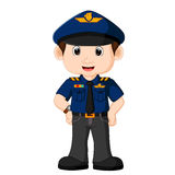 Cartoon Policeman Clipart Stock Vector Illustration Of