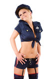 Young policewoman Stock Image