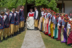 Young Polish dancers in traditional costume, perform in a show 1 Stock Photo