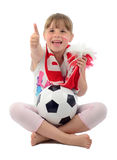 Young Polish football fan Stock Photo