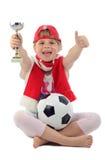 Young Polish football supporter Royalty Free Stock Photos