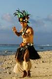 Young Polynesian Pacific Island Tahitian Man Dancer Royalty Free Stock Photos