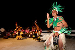 Young Polynesian Pacific Island Tahitian Men Dancers Stock Image