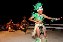 Young Polynesian Pacific Island Tahitian Men Dancers Royalty Free Stock Photos