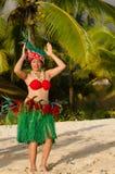 Young Polynesian Pacific Island Tahitian Woman Dancer Royalty Free Stock Photo