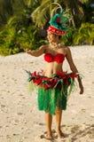 Young Polynesian Pacific Island Tahitian Woman Dancer royalty free stock image