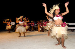 Young Polynesian Pacific Island Tahitian Woman Dancers royalty free stock image