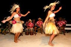 Young Polynesian Pacific Island Tahitian Woman Dancers Stock Image