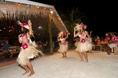 Young Polynesian Pacific Island Tahitian Woman Dancers Stock Photography