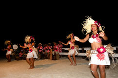 Young Polynesian Pacific Island Tahitian Woman Dancers royalty free stock photography