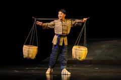 The young porter- Jiangxi opera a steelyard Stock Photography