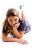 Young posing model looking at camera Royalty Free Stock Image