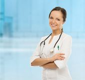 Young positive doctor Royalty Free Stock Image