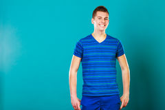 Young positive man casual style posing Stock Image