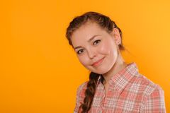 Young positive teenager girl Stock Image
