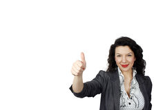 Young positive woman Stock Image