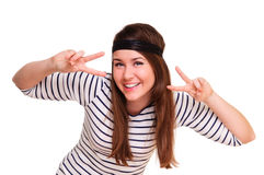 Young positive woman Stock Photography