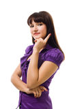 Young positive woman thinking Royalty Free Stock Photos