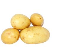 Young potatoes . Isolated Royalty Free Stock Images