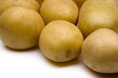 Young potatoes isolated Stock Photo