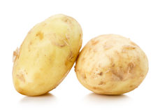 Young potatoes isolated on the white background Royalty Free Stock Photos