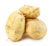 Young potatoes isolated on the white background Royalty Free Stock Images
