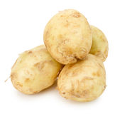 Young potatoes isolated on the white background Stock Photo