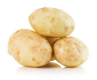 Young potatoes isolated on the white background Royalty Free Stock Image