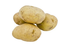 Young potatoes on the white background Royalty Free Stock Images