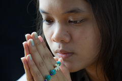 Young prayer Royalty Free Stock Photos
