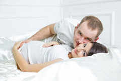 Young pregnant couple Stock Photos