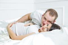 Young pregnant couple Stock Photos
