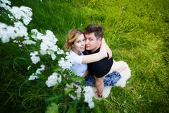 Young pregnant couple Stock Photography