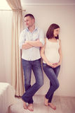 Young pregnant couple Stock Photo