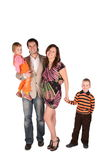 Young Pregnant Family With Children Stock Photos