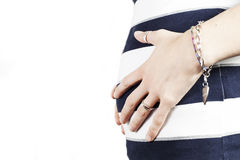 Young pregnant woman belly Royalty Free Stock Photos