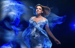 Young pregnant woman in fashionable dress Royalty Free Stock Photo