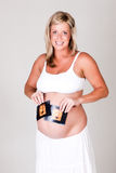 Young Pregnant Woman Holding Ultrasound Photograph Royalty Free Stock Photo