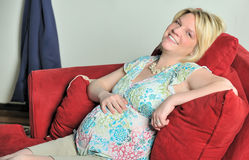 Young pregnant woman - relaxing Stock Image