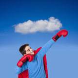 Young prepared, Superman Royalty Free Stock Photography