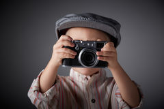 Young press photographer Royalty Free Stock Photo